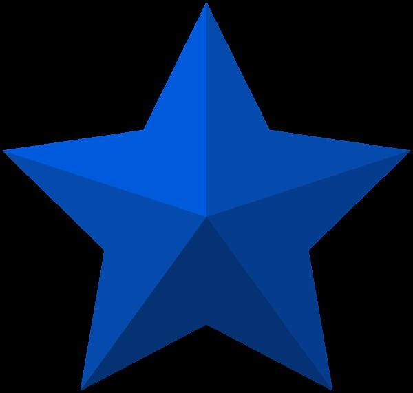 Blue Star PNG Clip Art Image
