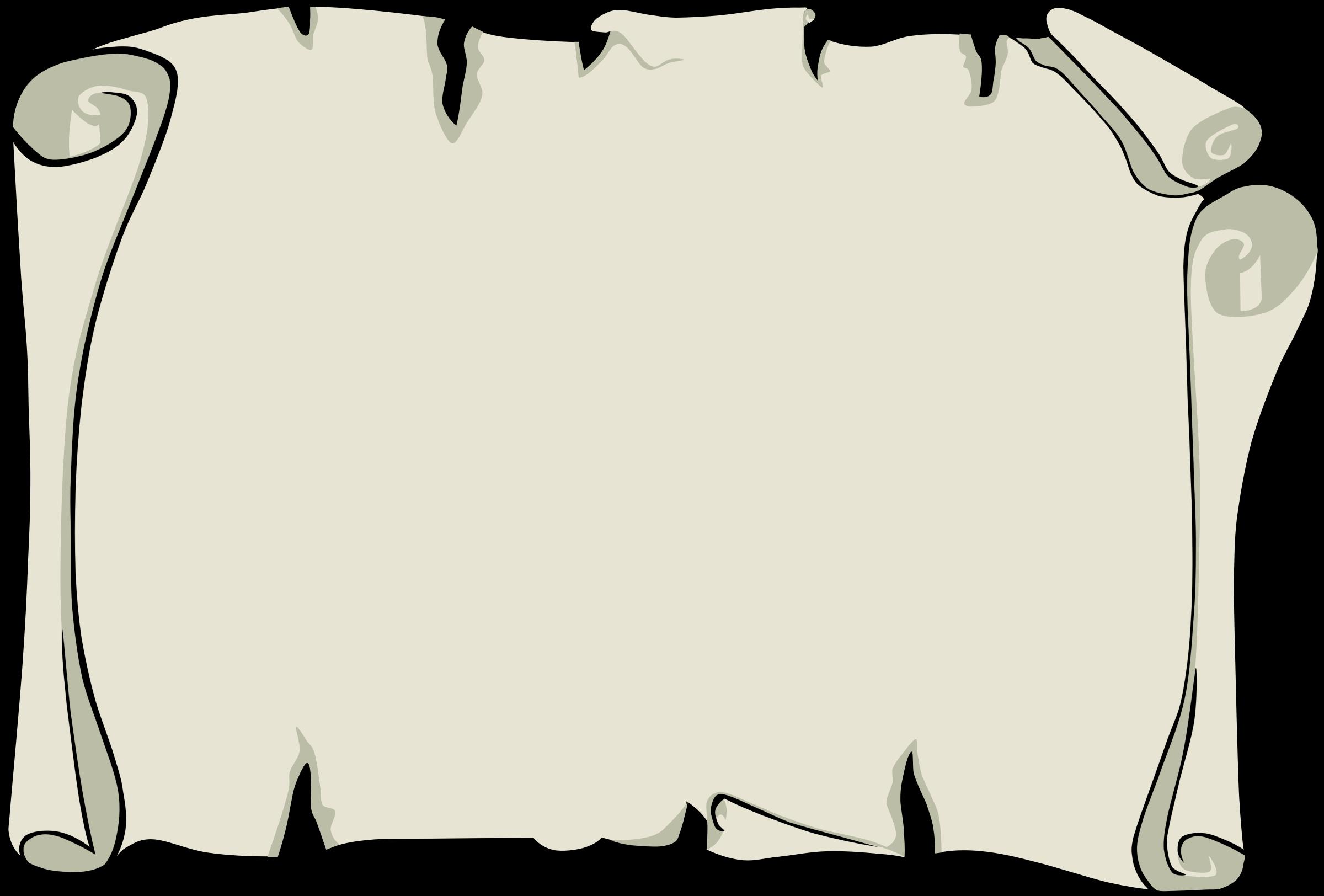 Parchment background or border. Clipart borders landscape
