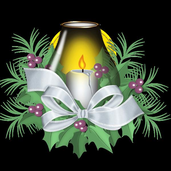 Christmas candle clip art. Poinsettias clipart candel