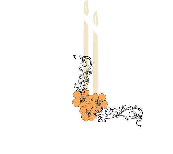Funeral clipart event. Candle flowers clip art