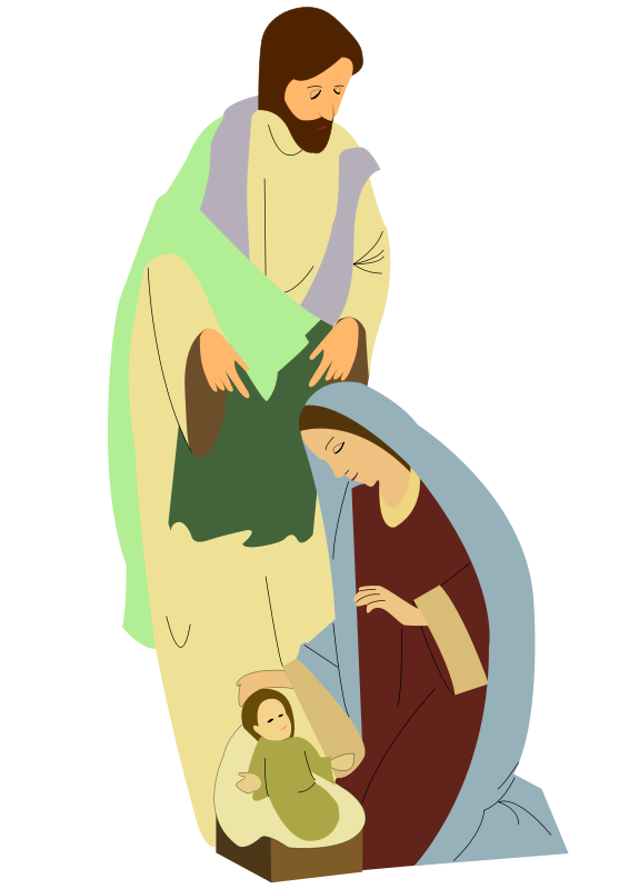 Religious christmas free holiday. Lamb clipart manger