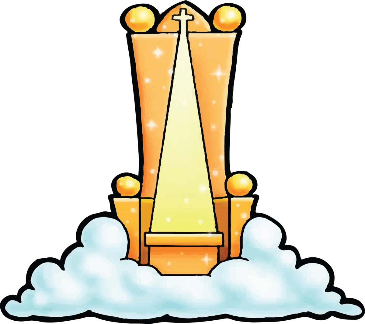 Throne of bible clip. Heaven clipart god