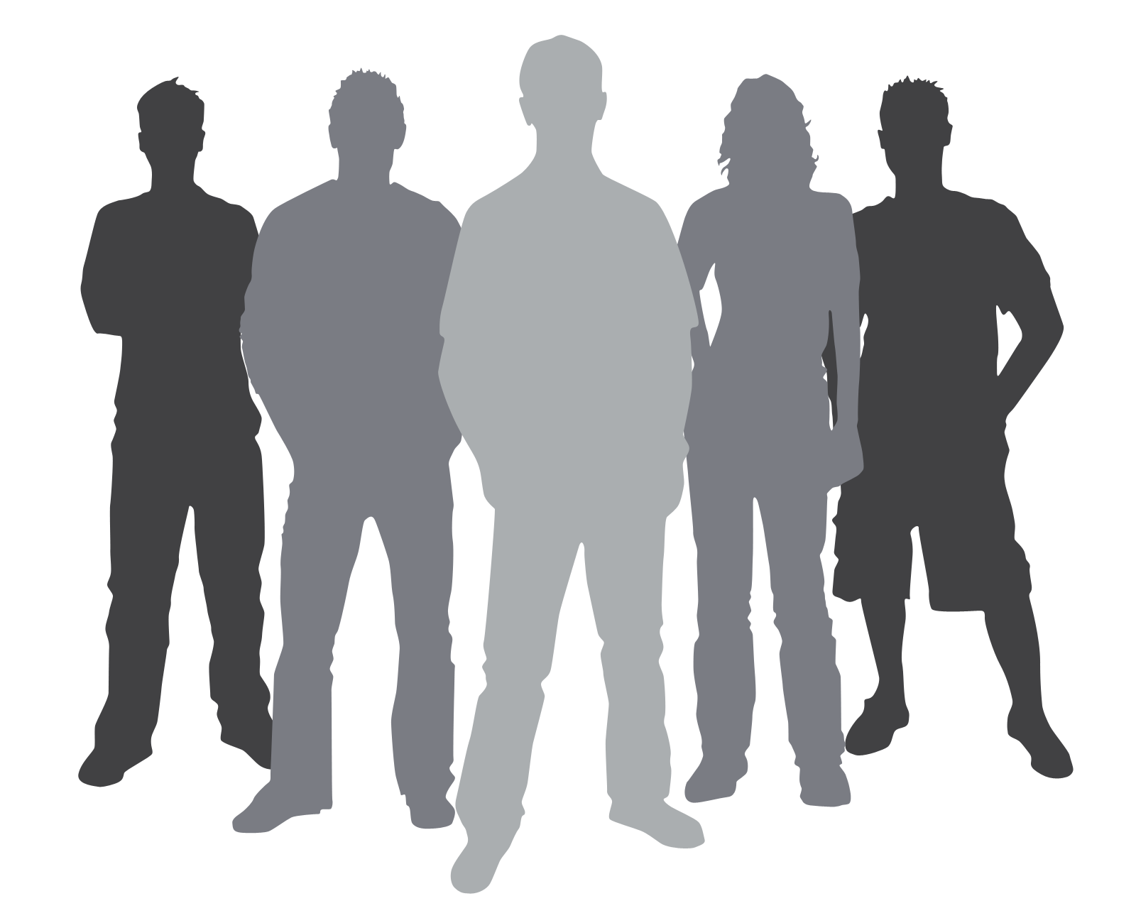 People clip art at. Community clipart silhouette