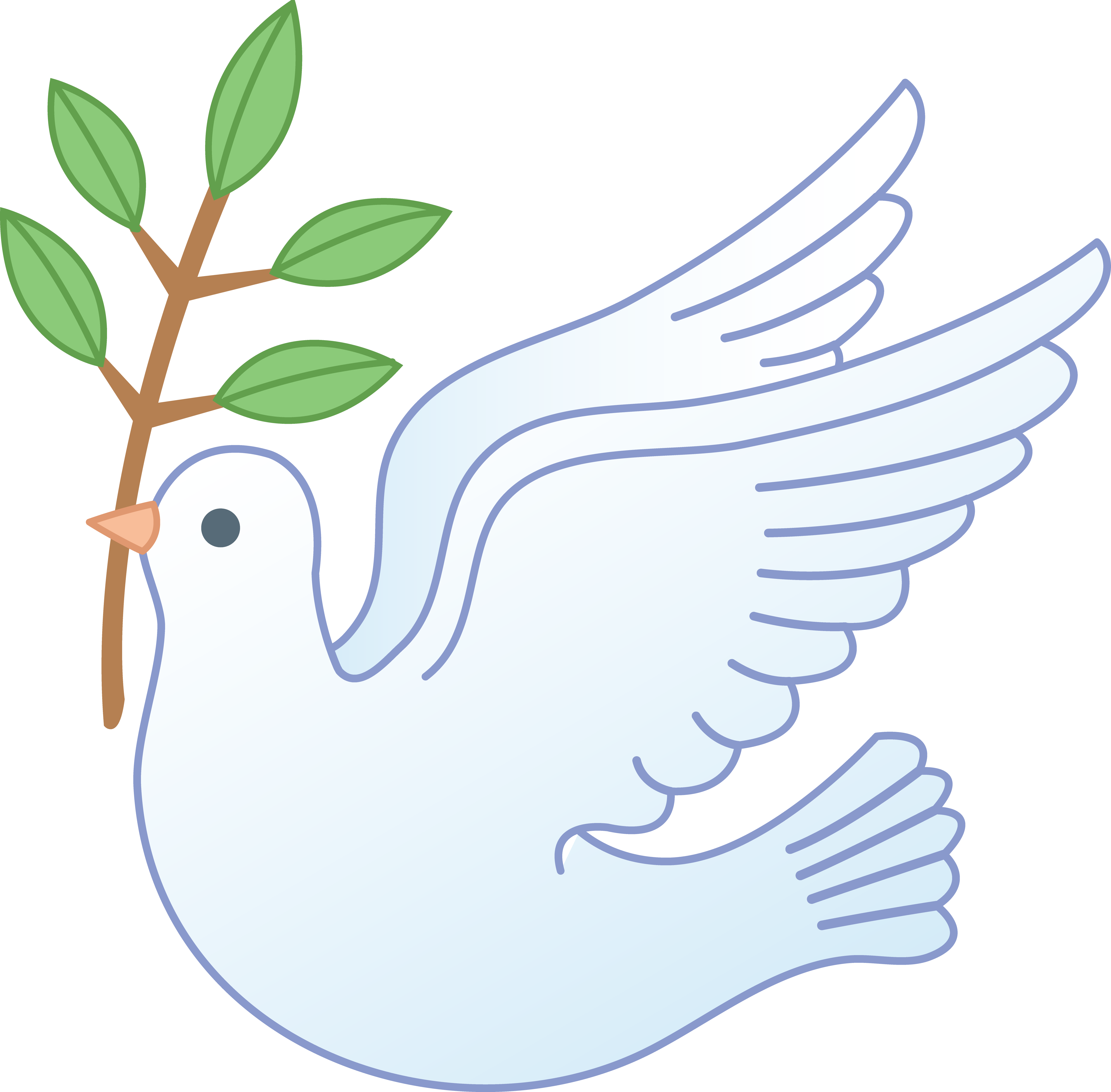 Dove clipart day. White peace with branch