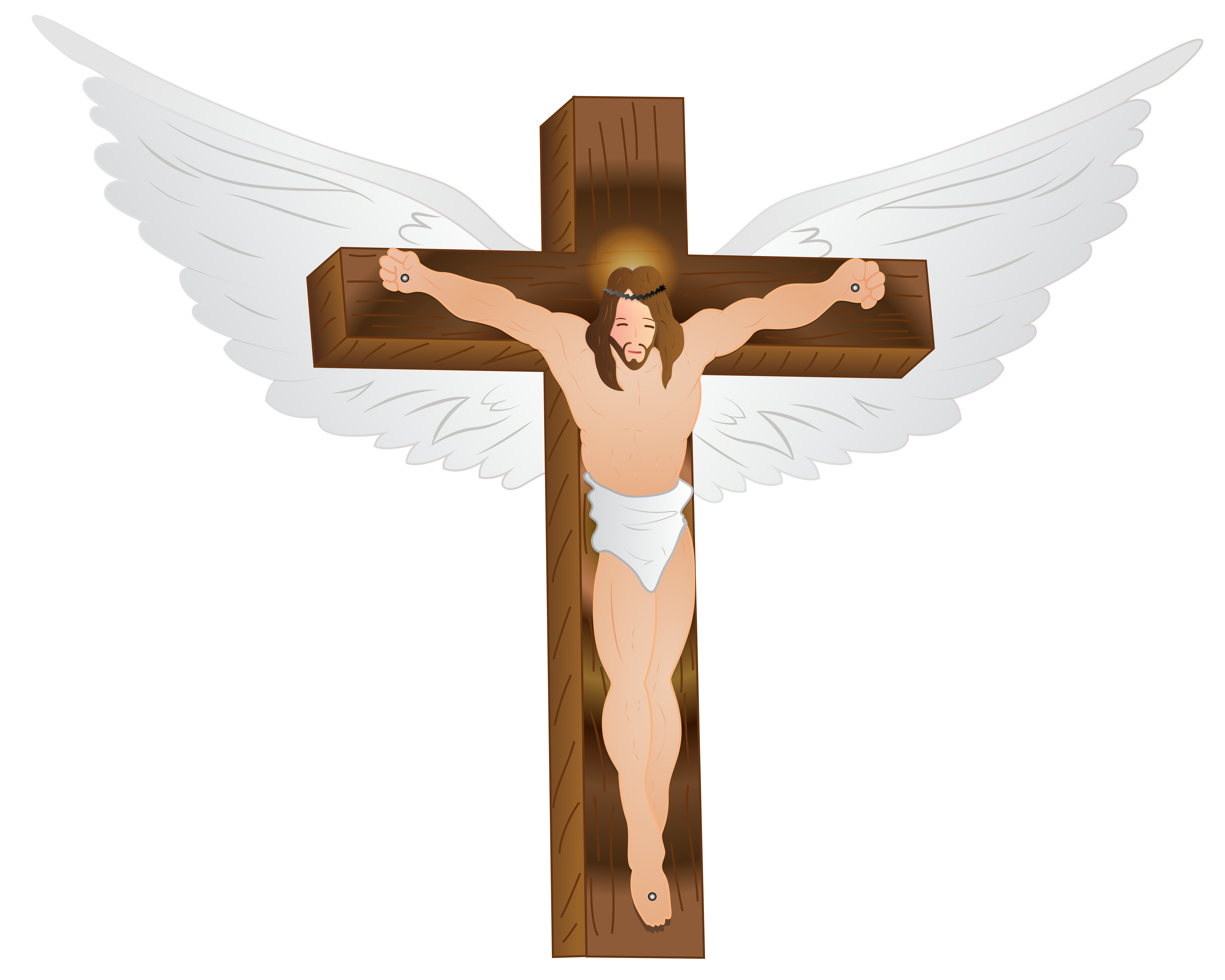 Jesus christ on the. Crucifix clipart rugged cross
