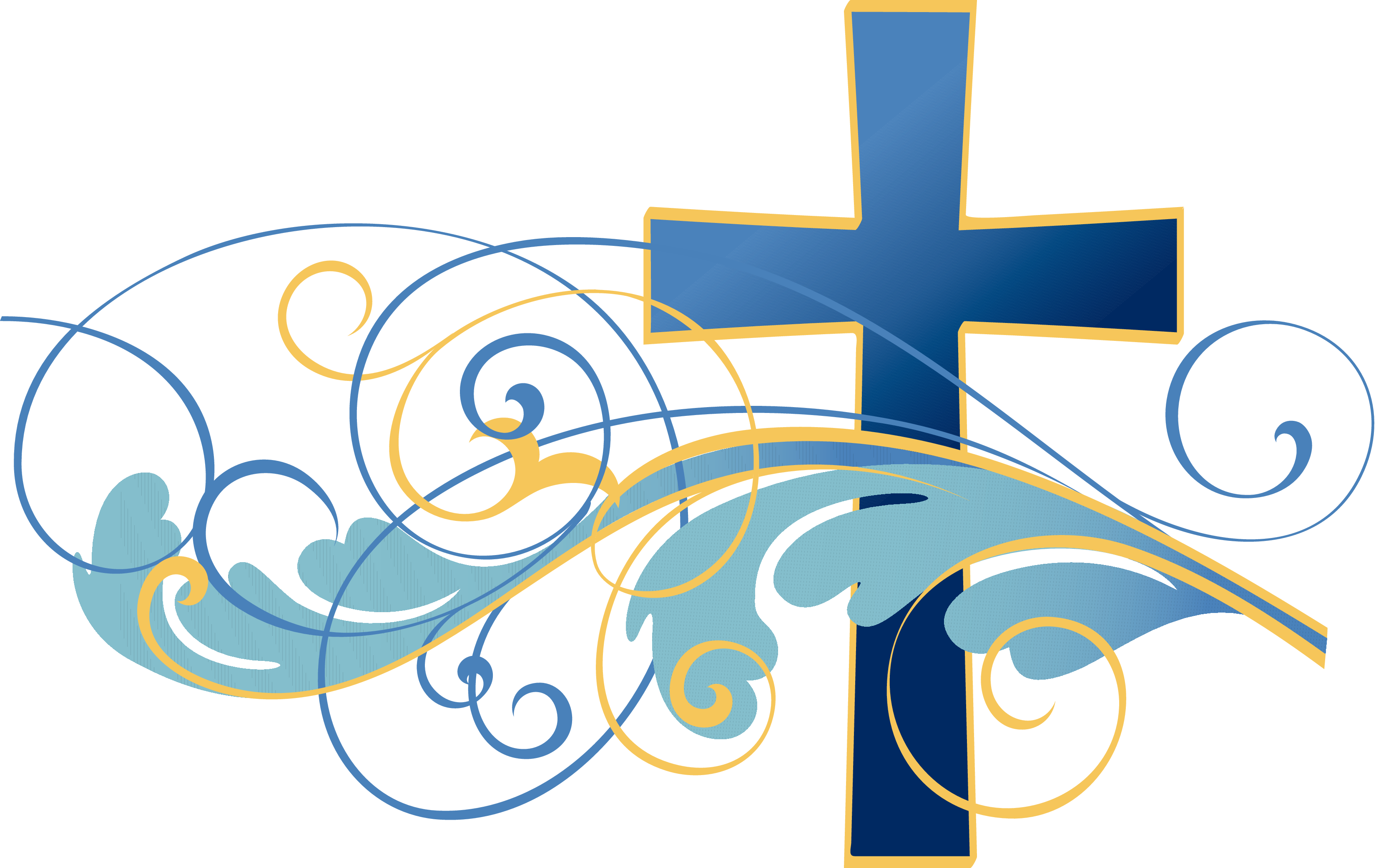 Designed by the top. Music clipart religious