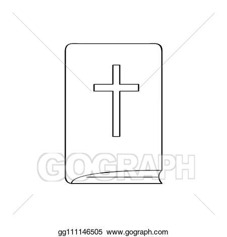 Clipart bible outline. Eps illustration isoalted holy