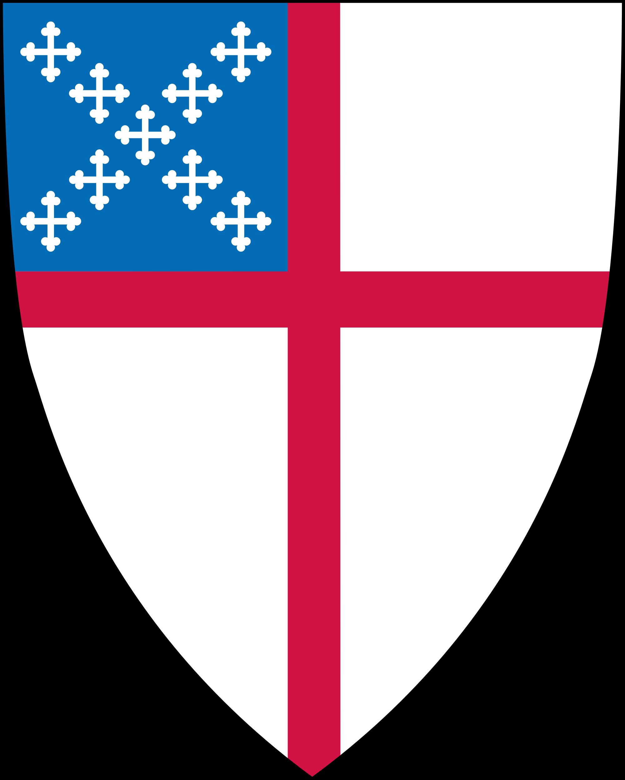 The episcopal church trinity. Clipart shield public domain