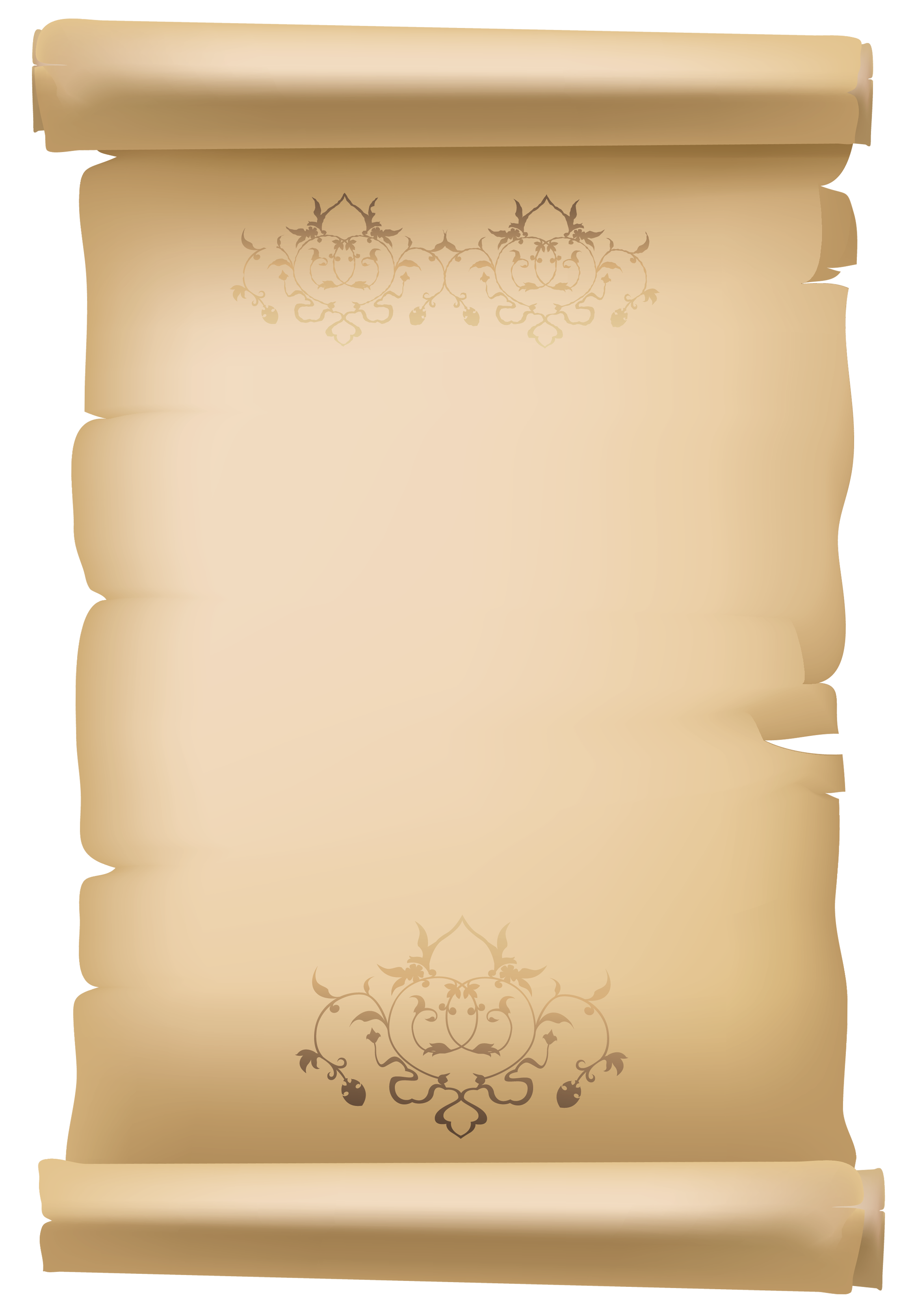 Paper clipart plus. Scroll old decorative png