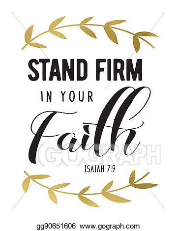 Faith clipart godly. Drawing stand firm in