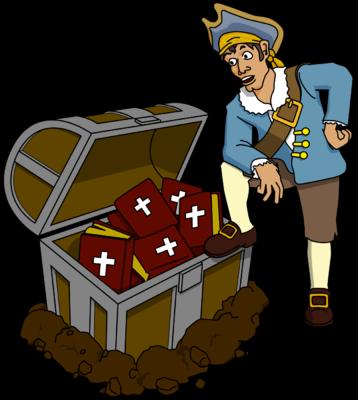 Image pirate clip art. Treasure clipart bible