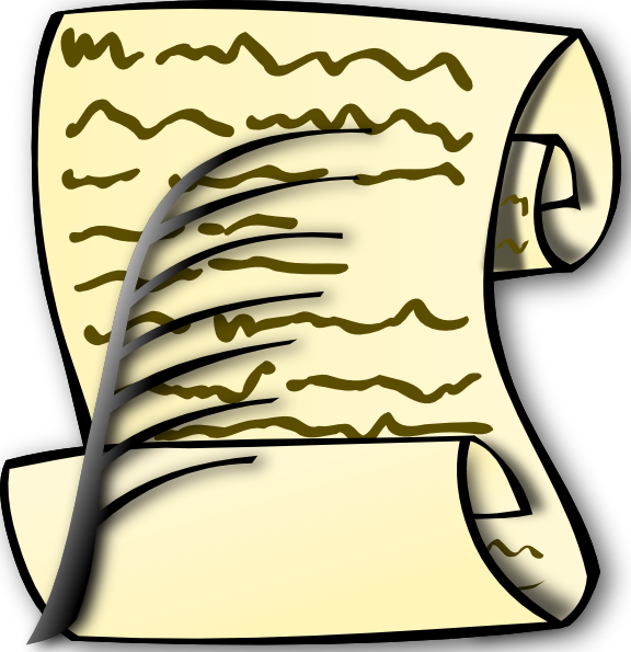 Writer clipart writer cartoon. Scroll and feather clip