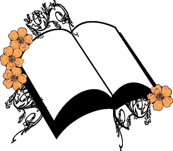 Wedding peach clip art. Flower clipart bible