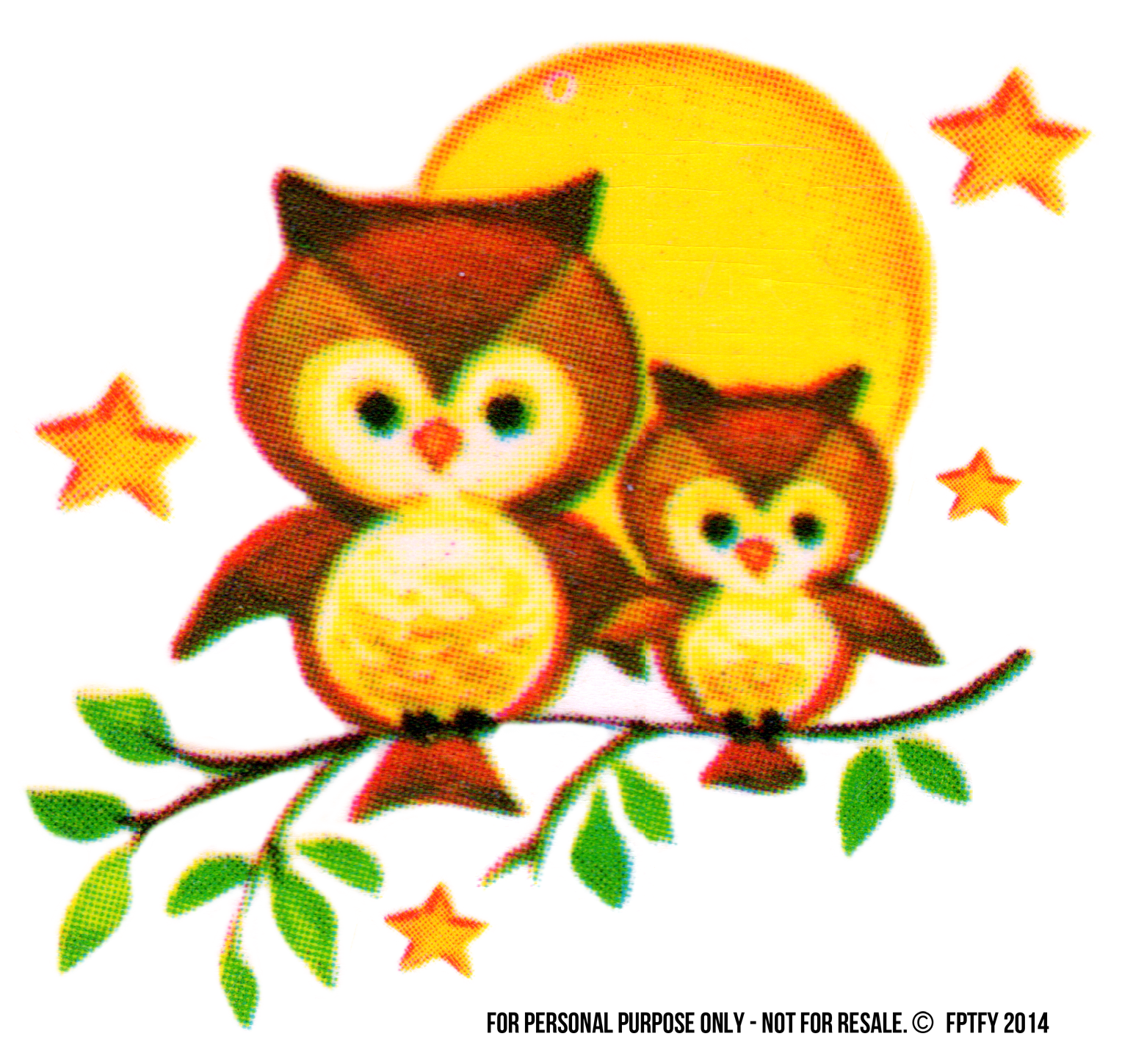Free vintage clip art. July clipart owl