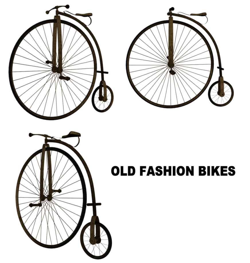 Clipart bicycle antique bike. Vintage set by mysticmorning