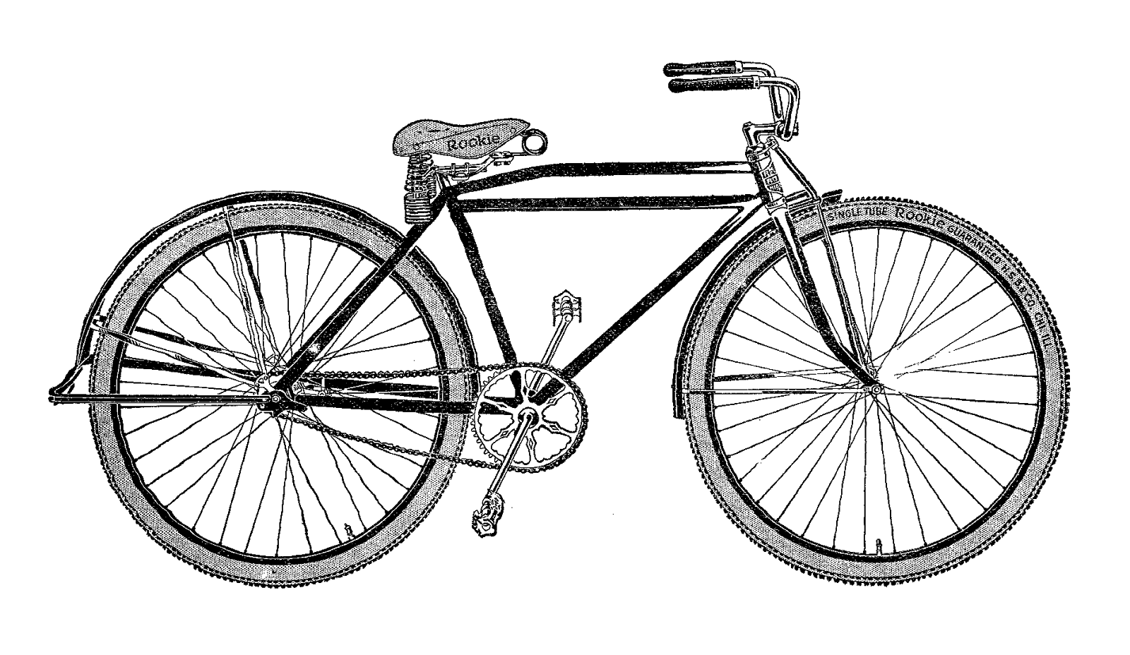 Clipart bicycle antique bike. Transparent png stickpng