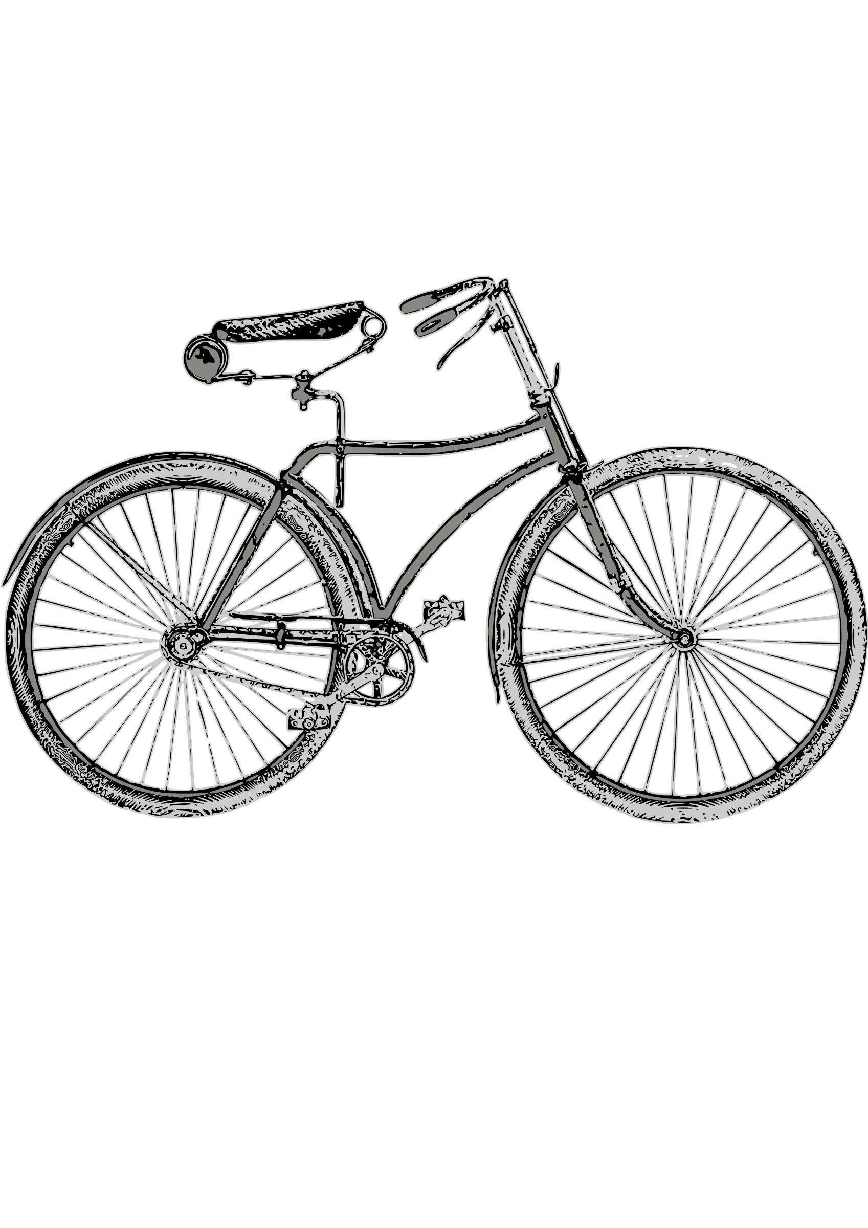Cycle clipart retro bike. Vintage drawing at getdrawings