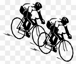 Racing clip art transparent. Clipart bicycle bicycle racer
