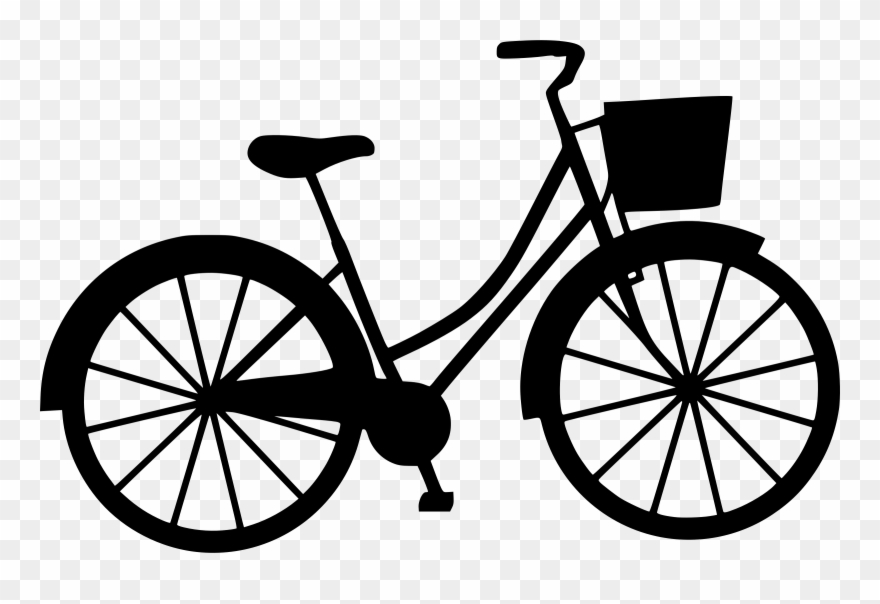 Bicycle frames mountain bike. Cycle clipart basket
