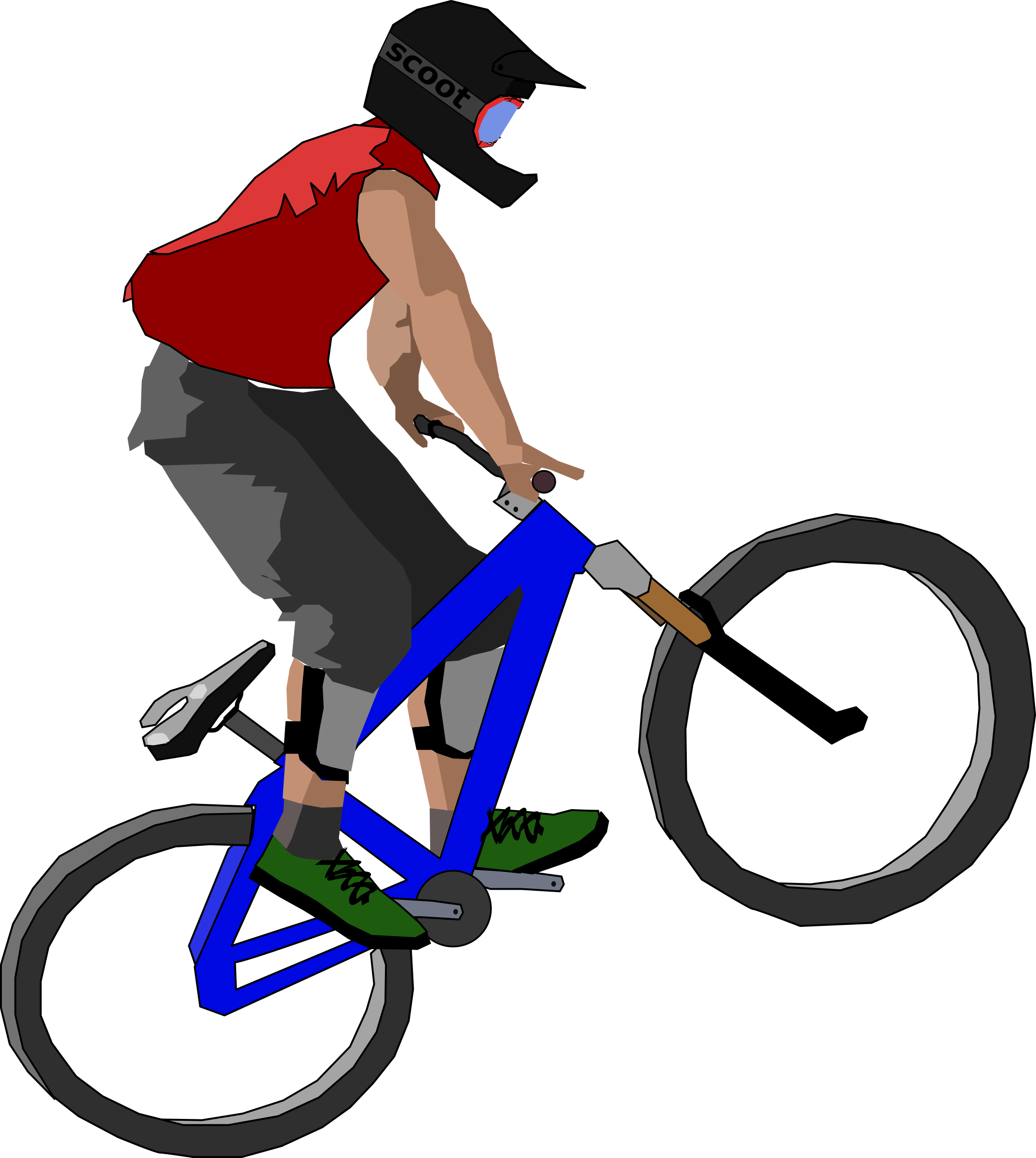 Cycle clipart vector. Biker big image png