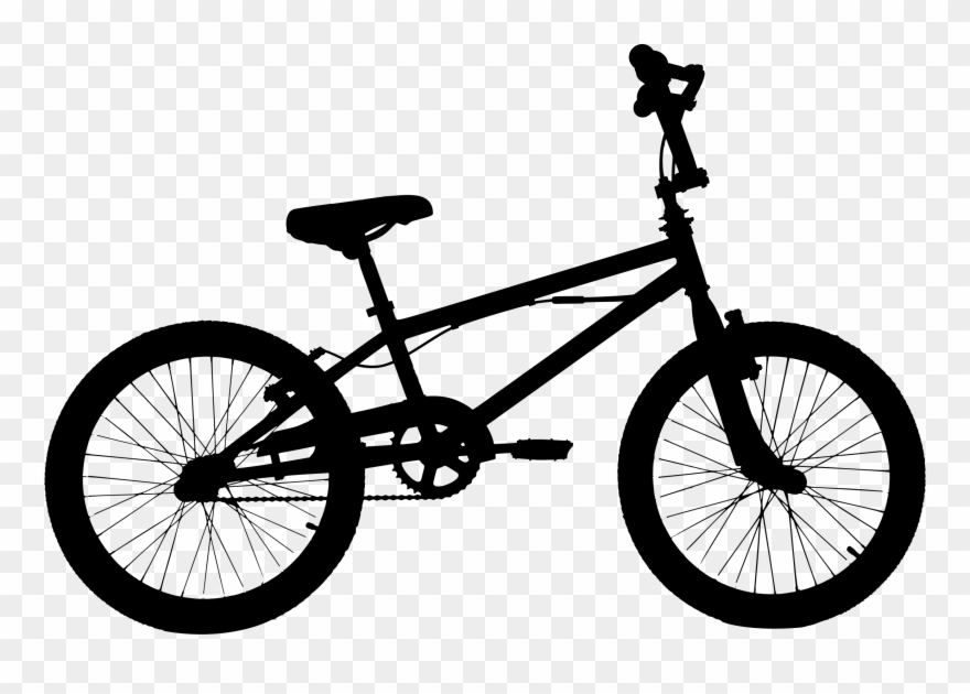 Clipart bike bmx bicycle. Silhouette clip art at