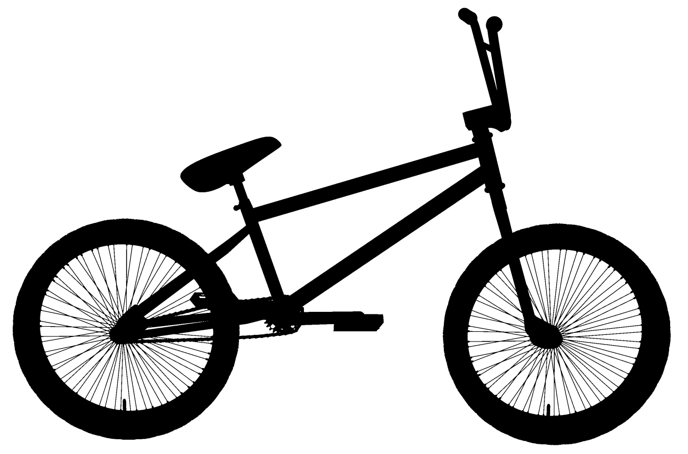 Black png clipartly comclipartly. Clipart bicycle bike bmx