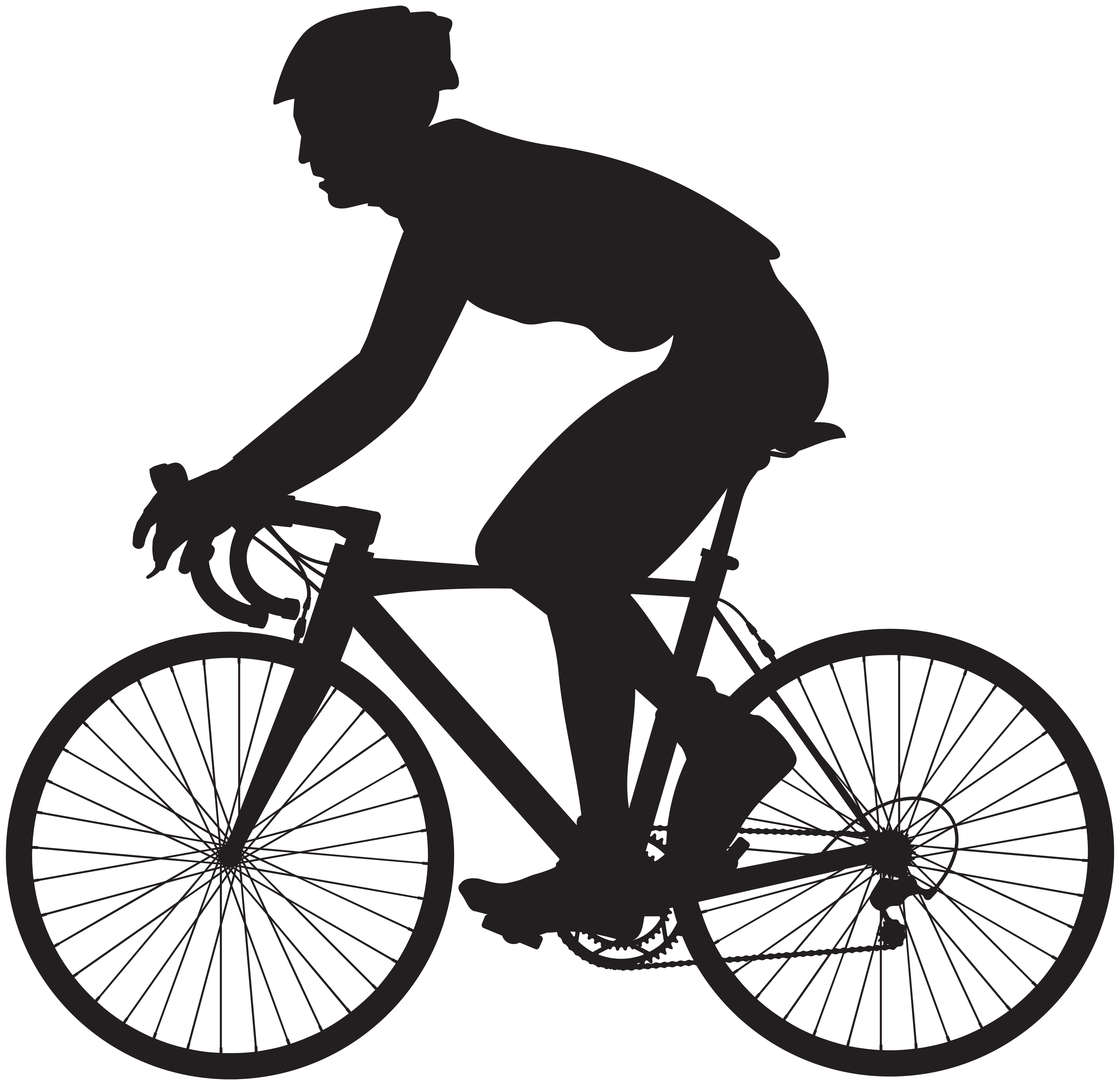 Bicycle pedal wheel cycling. Clipart road silhouette