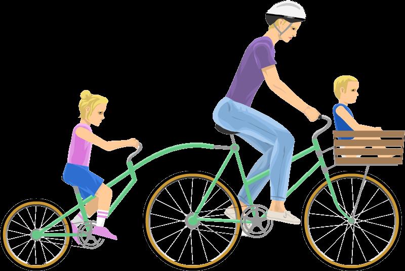 Clipart bike fell off. Irresponsible mom happy wheels