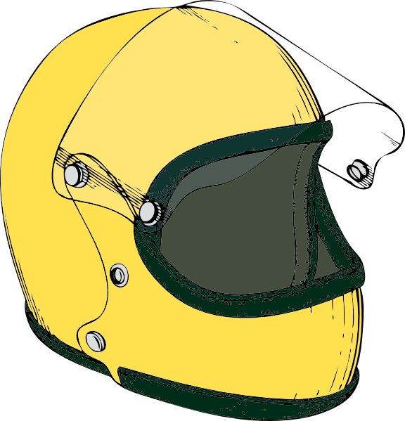 Motorcycle clipart yellow motorcycle. Crash helmet clip art