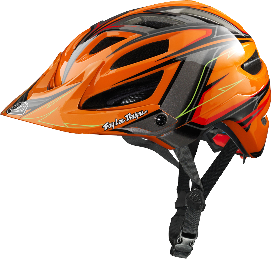 Bicycle helmet png image. Orange clipart bike