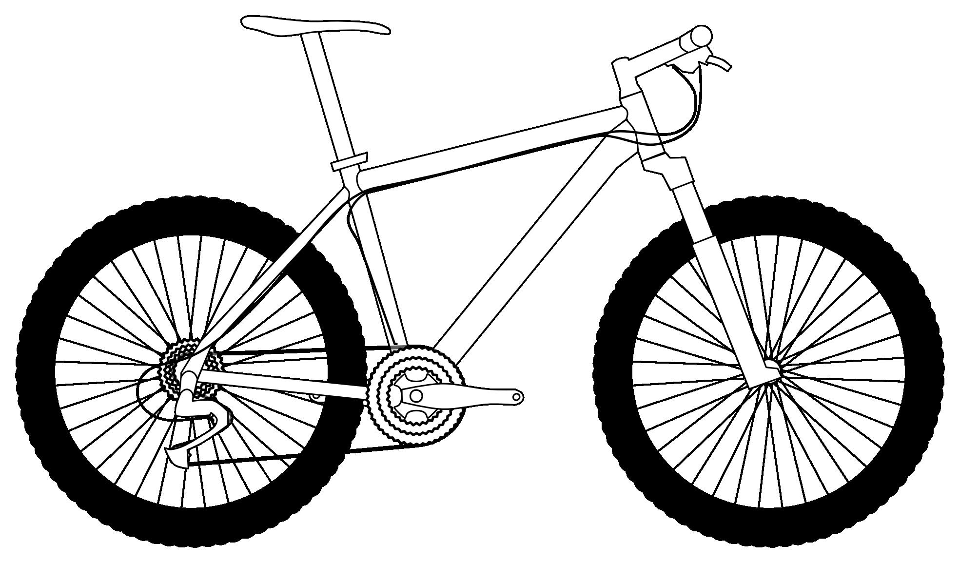 Drawing mountain bike google. Engagement clipart bikes