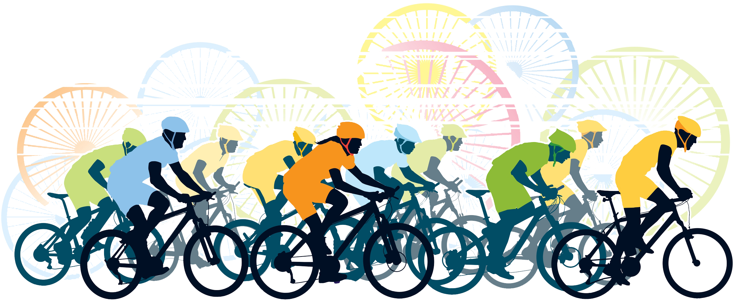 Clipart bicycle bike trail. Road racing cycling clip
