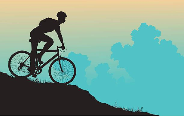 Royalty free clip art. Clipart bicycle bike trail