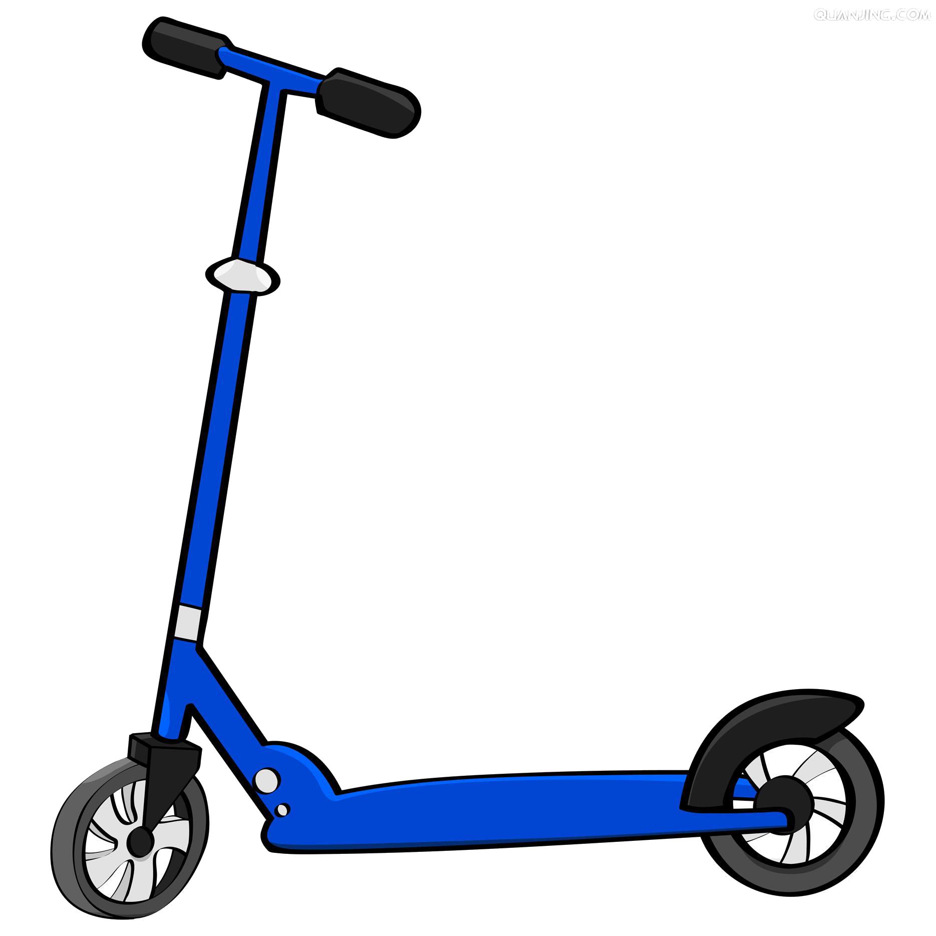 Cartoon moped clip art. Scooter clipart transparent