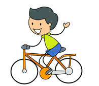 Clipart bicycle boy. Cycling free download best