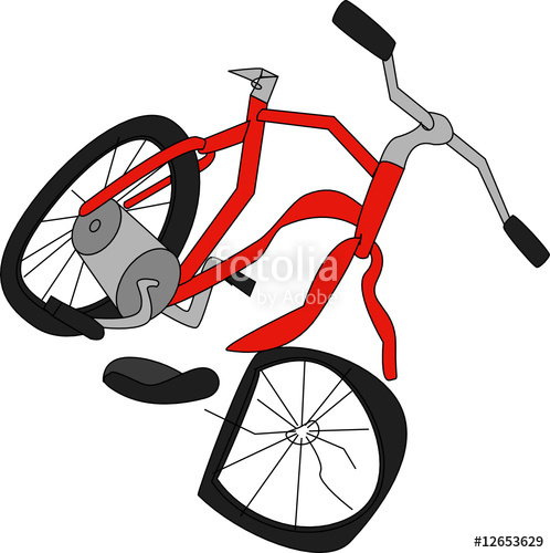 Clipart bike broken bicycle. Stock image and royalty