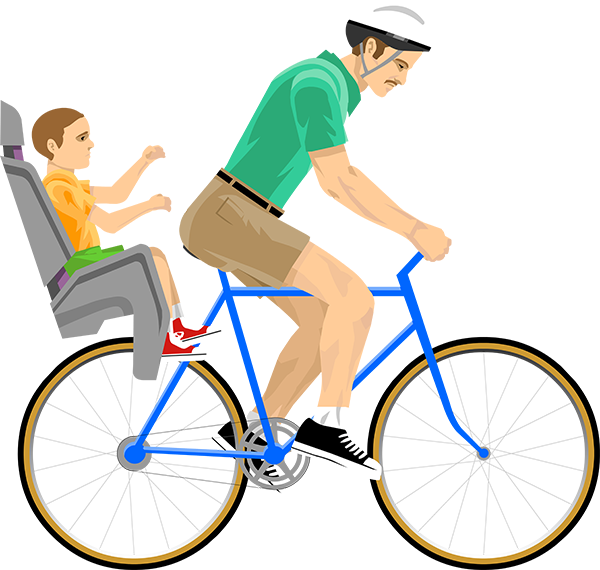 Irresponsible dad happy wheels. Cycling clipart little boy