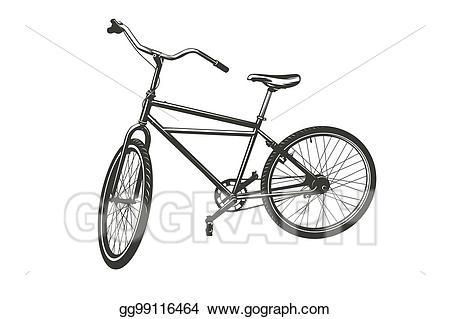 Clipart bike broken bicycle. Vector art silhouettes eps