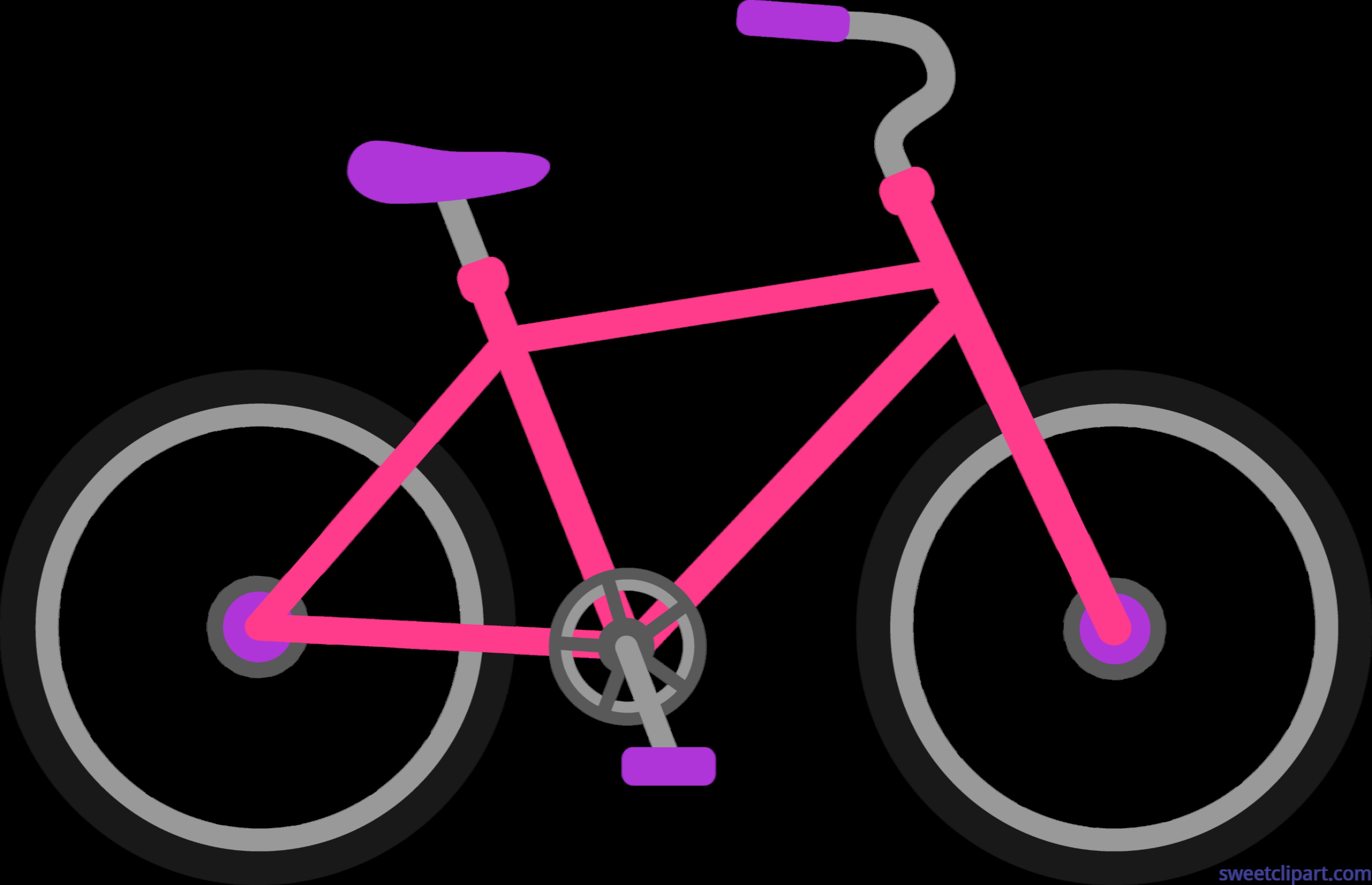 Cycle clipart vehicle. Pink bike clip art