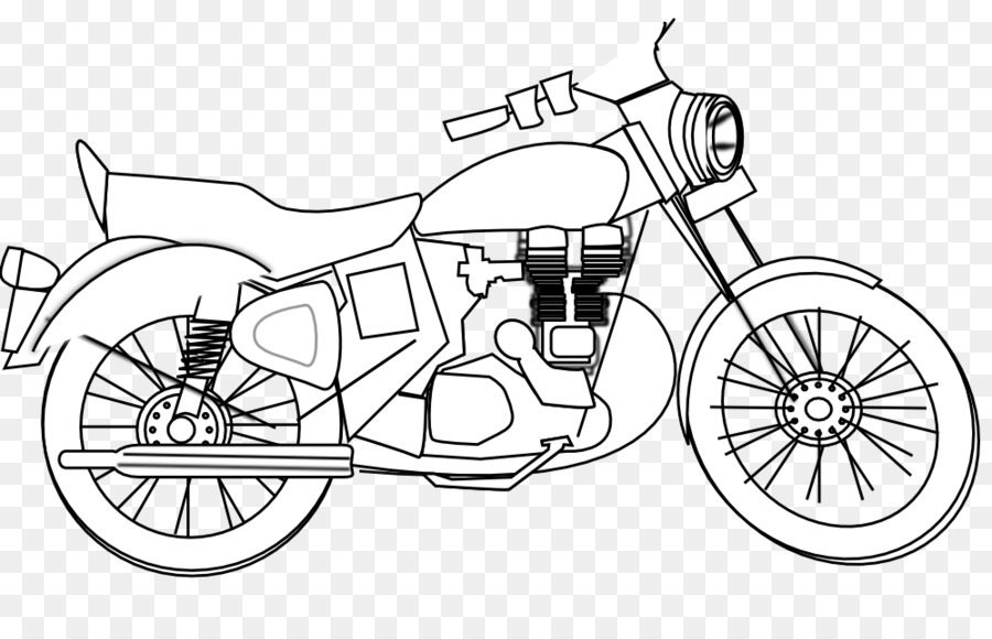 Black and white frame. Motorcycle clipart land vehicle