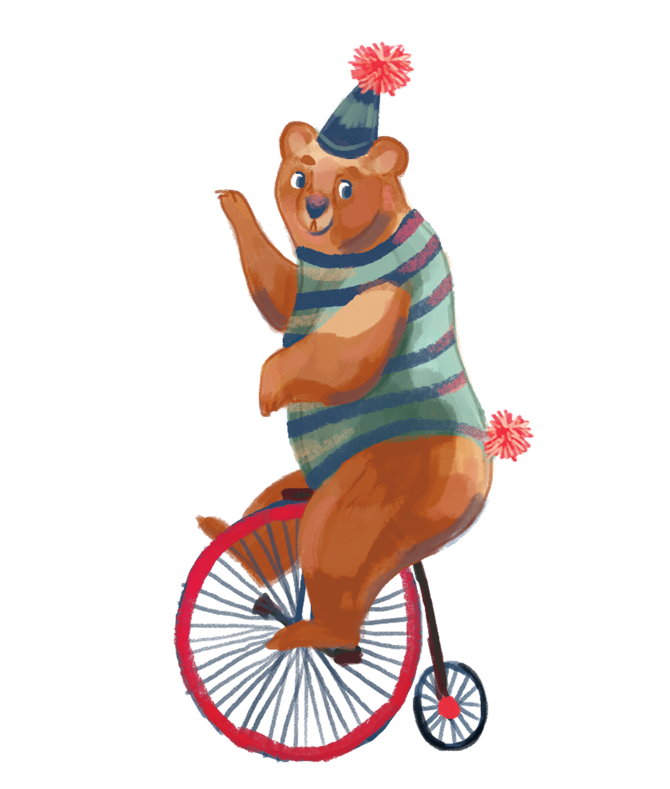 Clown clipart unicycle. Happiness on the table