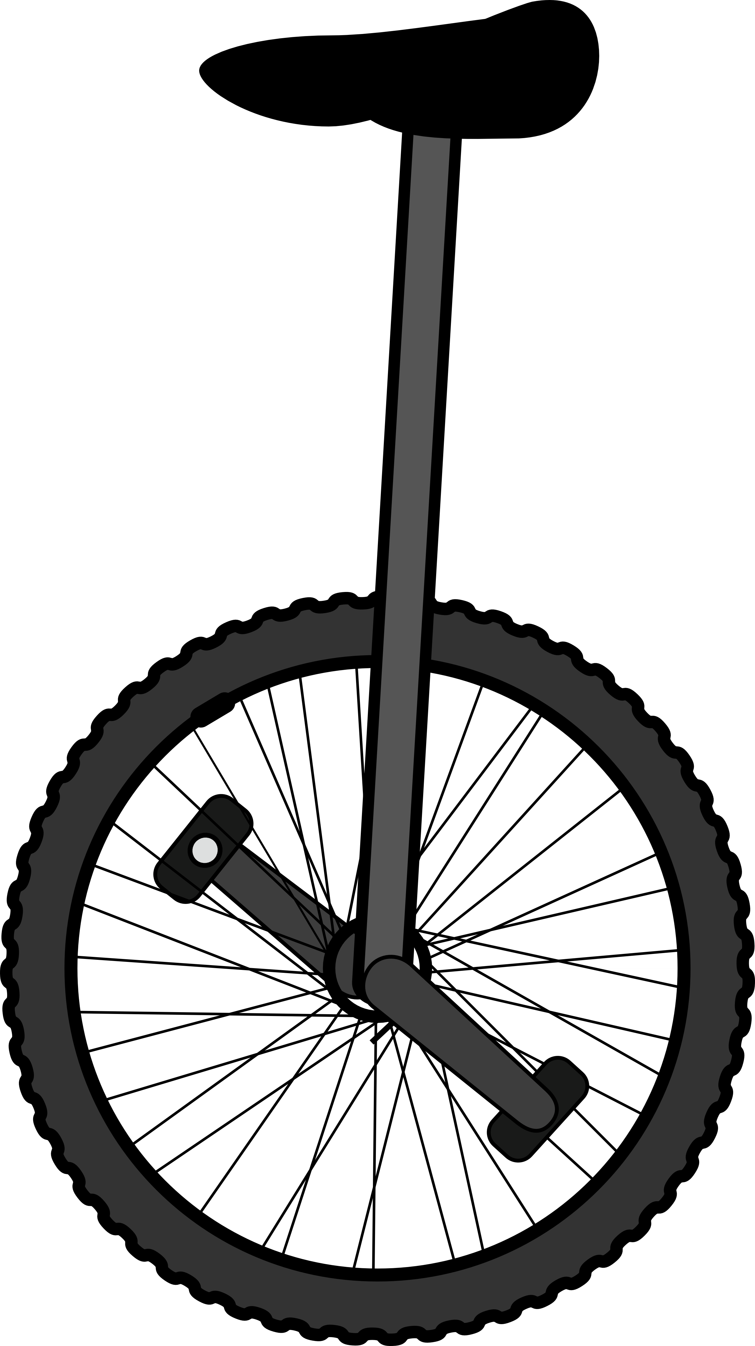 Unicycle black and white. Wheel clipart circus