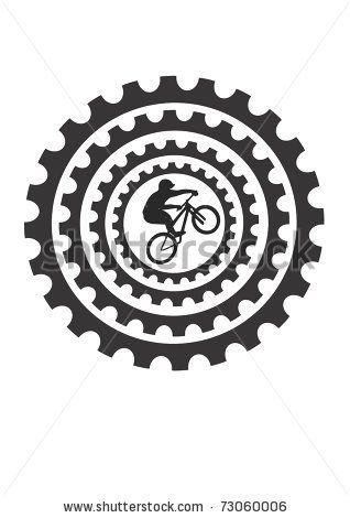 Gears clipart motorcycle gear. Bike clip art mountain