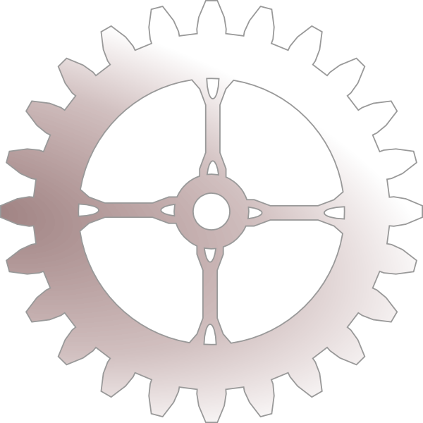 Steampunk clipart file. Silver gear clip art