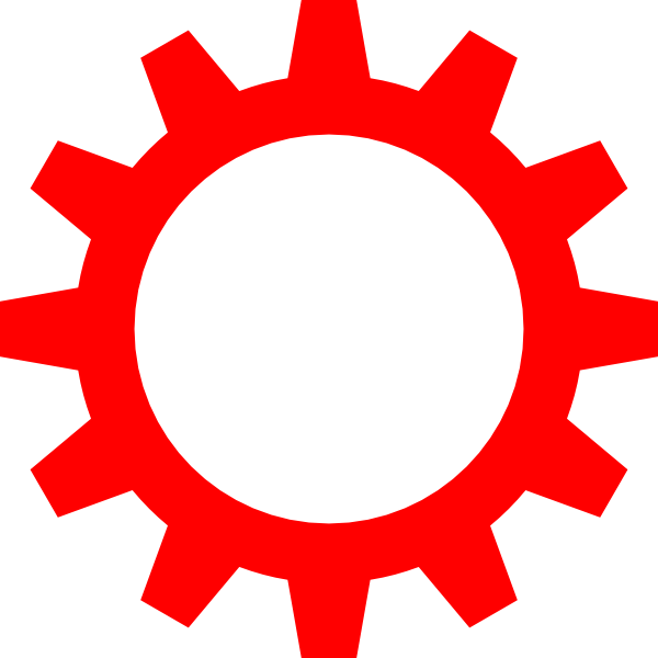Cogwheel Symbol Clip Art at Clker