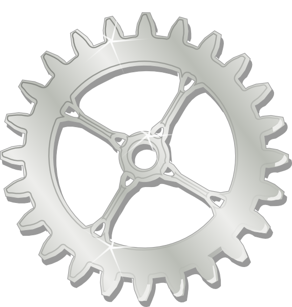 Metal chrome clip art. Gear clipart bike gear