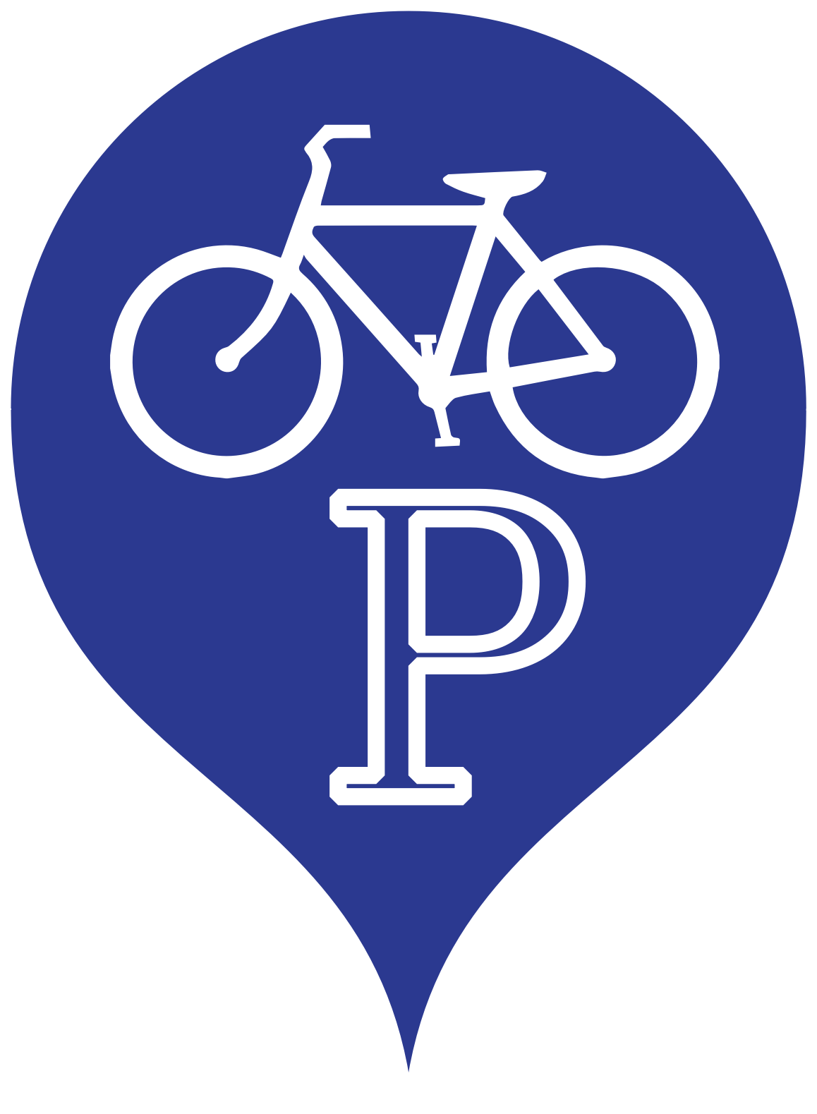 Bike sign big image. Parking lot clipart icon