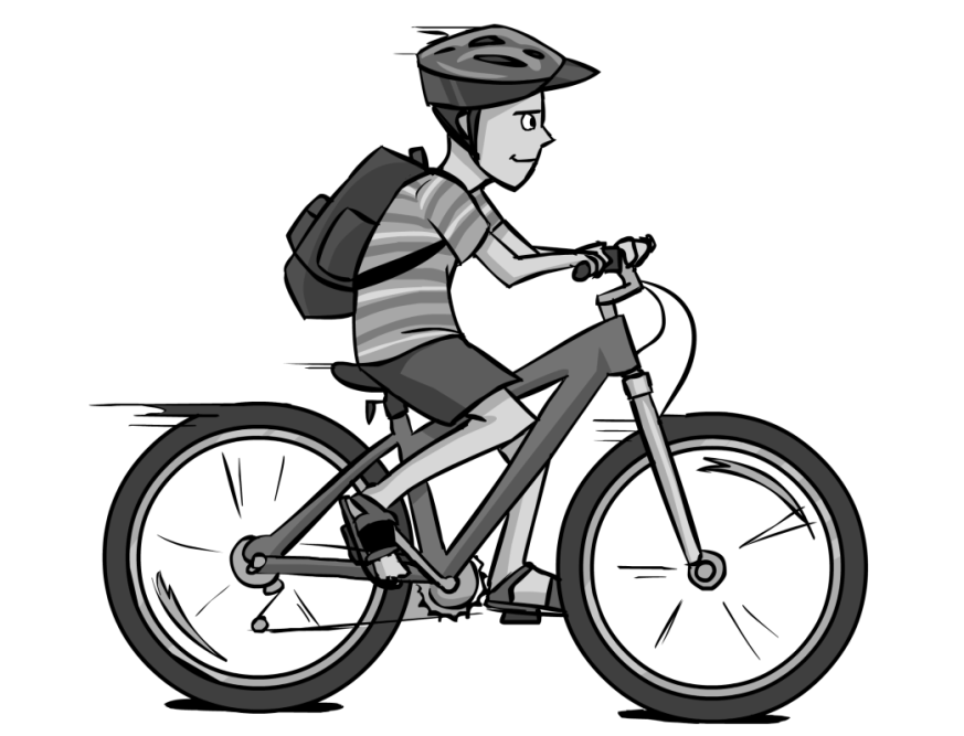 Provo bike to school. Scooter clipart two wheeler