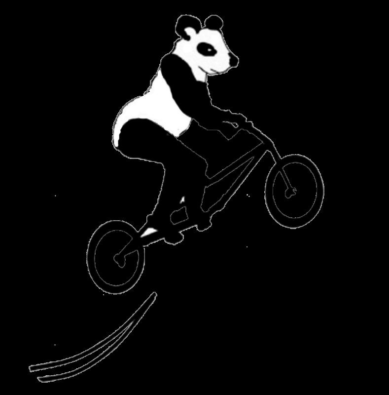 Clipart bicycle cycle stunt. Panda on bike gifts