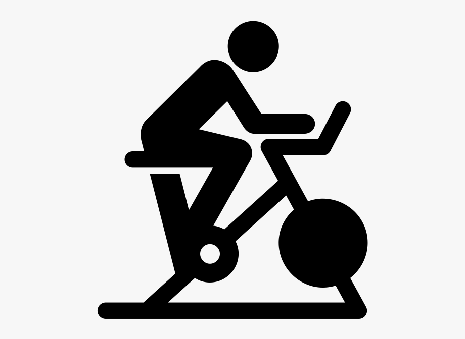Spin class bike transparent. Cycle clipart cycling exercise